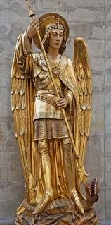 Image result for archangel michael tree decoration at mont st michel abbey shop