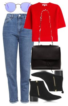 """Untitled #5771"" by rachellouisewilliamson ❤ liked on Polyvore featuring Topshop, Ray-Ban and Carven"