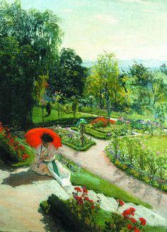 Józef Mehoffer, Czerwona parasolka, 1917