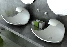This is sink design by Joel Roberts as a Bathroom Innovations Awardfinalist. It has stylish and beautiful design inspired by oceanic form and motion. The basin Modern Sink, Modern Bathroom, Unique Bathroom Sinks, Bathroom Ideas, Bathroom Stuff, Bathroom Closet, Bathroom Art, Beautiful Bathrooms, Bad Inspiration