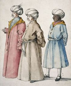 Drawing of Three Ottomans, by Albrecht Dürer, c.1496-1497. After Gentile Bellini.
