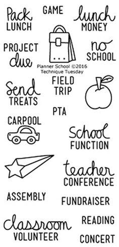 TECHNIQUE TUESDAY: Planner School