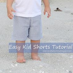 Easy Kid Shorts Tutorial (use shorts/pants you already have) by stitchedbycrystal