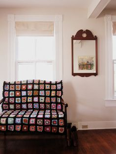 Granny Squares on the Settee by kristenaderrick, via Flickr