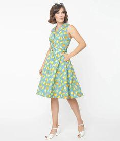 Blue Squash & Pumpkins Print Jani Swing Dress Swing Dress, Unique Vintage, Pumpkin, Style Inspiration, Summer Dresses, Pattern, Prints, Blue, Collection