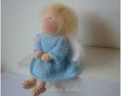 """6,5"""" Crochet Waldorf doll-Angel by Rusi Dolls"""