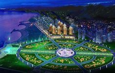 Xinghai Sq.    Dalian Information About China, Places To Travel, Places Ive Been, City Photo, To Go, Fair Grounds, Water, Dalian China, Image