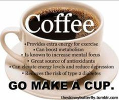 Coffee: Go make a cup!