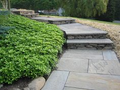 Walkway Designs | Stone walkways - Using natural and cut flagstone, brick and more