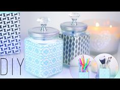 """DIY - """"FACILE"""" : RECYCLER VOS BOCAUX POUR UNE DECO TENDANCE  personalized mason jar (english subs)"""