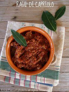 Ragout of venison - Ragù di capriolo