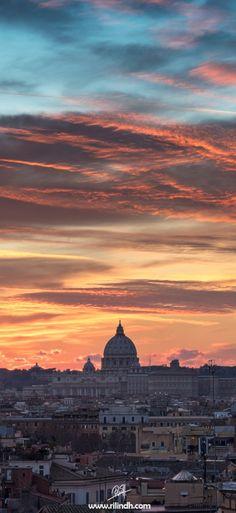 Rome, Italy Sunset. www.nostromondo.net