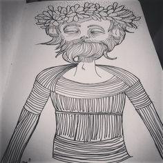 danilotm on Instagram #desenho #ilustração #draw #illustration #rabisco #drawing #sketch #design #sp #feeling #tattoo #tatuagem #theend #mugshot #portrait #beard #barba #flowers