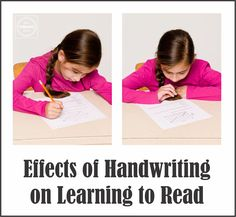 Effects of Handwriting on Reading from www.YourTherapySource.com