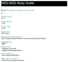 NSG 6420 FINAL EXAM STUDY GUIDE – QUESTION AND ANSWERS