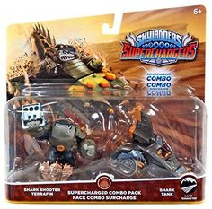 Skylanders SuperChargers Super Dual Pack (Shark Shooter Terrafin/Shark Tank) NEW #Activision