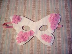 Children's Butterfly Felt Mask in white with by pixieandpenelope, $12.00