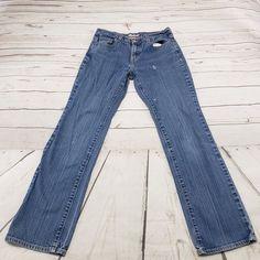 4db18e812 Levis Jeans Size 10 Long Straight Leg 505 Womens Blue Denim Pants 99%  Cotton 1. Vinted