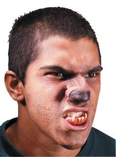 Wolf Nose Werewolf Animal Halloween Costume Makeup Latex Prosthetic Appliance .