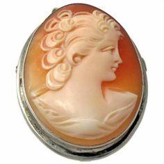 Vintage Carved Shell Cameo Brooch Pendant Combo by KatcherrFancy
