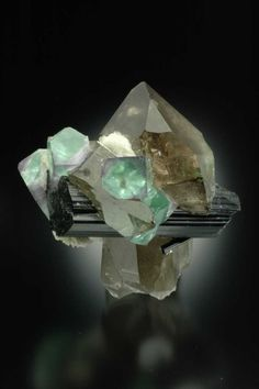 Fluorite With Quartz and (Epidote or Schorl ?), Pakistan / Mineral Friends <3
