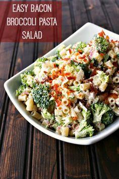 Easy Bacon Broccoli Pasta Salad