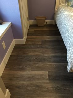 "bedroom floor inspiration COREtec Plus 7"" - Alabaster Oak #COREtec #lvp #luxuryvinylplank"