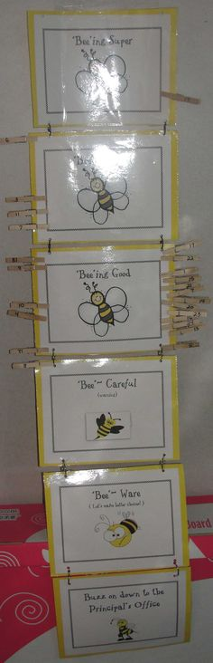 My 'bee' havior board clip system For Ms. Kindergarten Classroom, Classroom Themes, School Classroom, Classroom Activities, Classroom Organization, Future Classroom, Teacher Boards, Behaviour Chart, Bee Crafts
