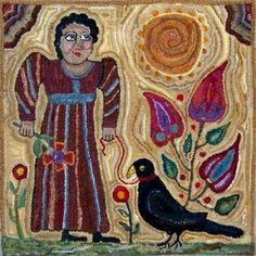 Sunnie's Old Crow Farm Hooked Rugs and Folk Art from Vermont