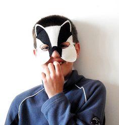 Tejón niños máscara de un Animal los niños fieltro por BHBKidstyle