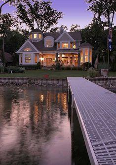 Style At Home, Haus Am See, Home Designer, Designer Bags, House Goals, My Dream Home, Dream Homes, Home Fashion, Exterior Design