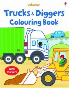 Usborne Trucks and Diggers Colouring Book