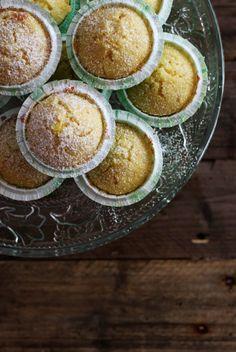 Citronmuffins med marcipan – sommerens fredagskage