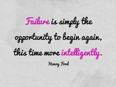 Good Morning. Have a great Monday and don't let failure stop you because it is often the key to success.