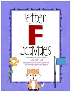 Letter F Activities: Preschool and Kindergarten or Intervention Groups