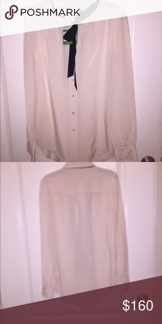 Kate Spade September 2016 Collection Cream blouse. Still has tags, never wore it. Too small for me kate spade Tops Blouses