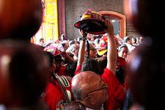 Bomberos en Misa del Señor de los Milagros, Lima, Perú