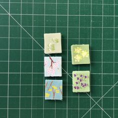 4. Spring fabric rectangle pieces