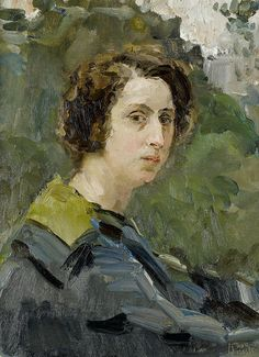 Portrait of a woman, by Isaac Israels (Dutch, 1865-1934)