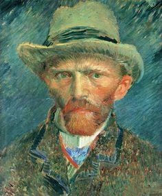Vincent van Gogh, Self-portrait with Grey Felt Hat, Paris, Winter, 1886-87