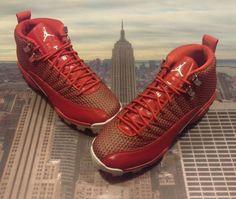 Nike Jordan XII 12 Retro MCS Gym Red Baseball Cleat Shoe Size 7.5 854566 600  Air