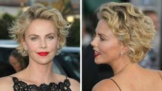 Charlize Theron's pixie cut is growing out and we can't help but stare