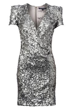 111cf2a5 Kuvahaun tulos haulle dress white silver sequins Silver Sequin Dress,  French Connection Dress, Knit