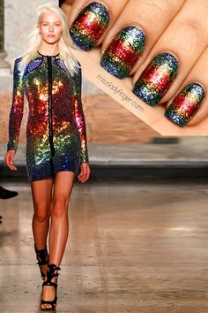 MANICURE MUSE: Emilio Pucci Spring '14It's the last Ladyfinger of 2013… go out with a bang! Emilio Pucci dazzlers for the win. Tutorial inside.