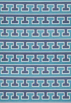 Fabric | Greek T in Midnight / Prussian | Schumacher
