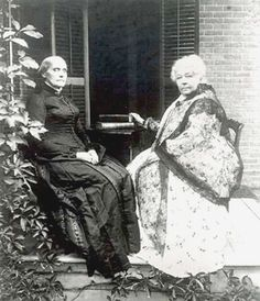 Susan B. Anthony and Elizabeth Cady Stanton. Two brilliant women active in NYS who fought, till the day they died, for women's suffrage and human rights. Neither of them lived to see the day where a women could legally cast her vote in the US. Great Women, Amazing Women, Elizabeth Cady Stanton, Susan B Anthony, Brave Women, Badass Women, Famous Women, Iconic Women, Before Us