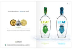 LEAF Vodka Branding and Marketing | type:set