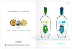 LEAF Vodka Branding and Marketing | type:set
