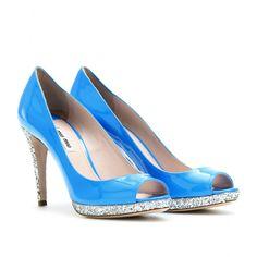 Miu Miu..Glitter Peep-Toe...Love This Color!!