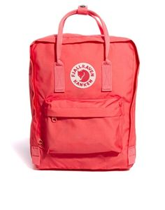 Buy Fjallraven Kanken Classic Pink Backpack at ASOS. Get the latest trends with ASOS now. Backpack With Pins, Mini Backpack, Kanken Backpack, Backpack Bags, Mochila Kanken, Pink Kanken, Fjallraven, Asos, Backpack Outfit